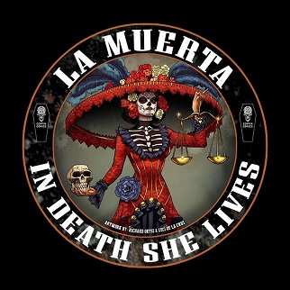 La_Muerta_3X3Color_Sticker